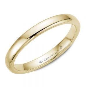 yellow gold wedding band ring