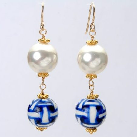 Wendy Perry Chinoiseries Bauble Earrings