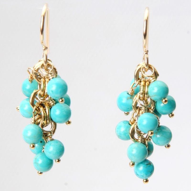 Wendy Perry Ocean Grove Turquoise Bead Earrings