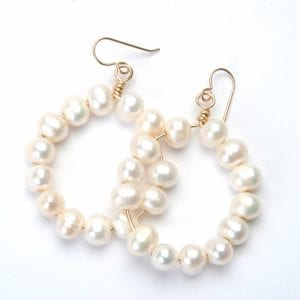 Wendy Perry Cristina Pearl Hoop Earrings