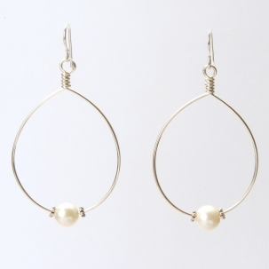 Wendy Perry Cristina Single Pearl Hoop Earrings