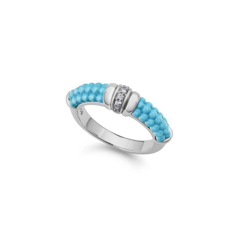 Lagos Blue Caviar Diamond Stacking Ring