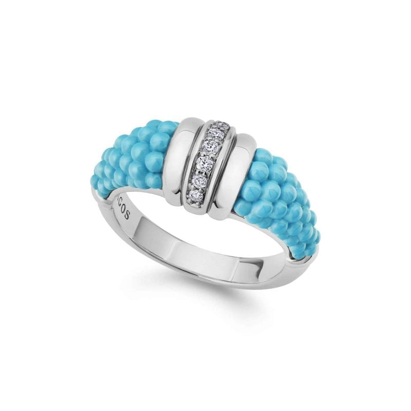 Lagos Blue Caviar Diamond Ring