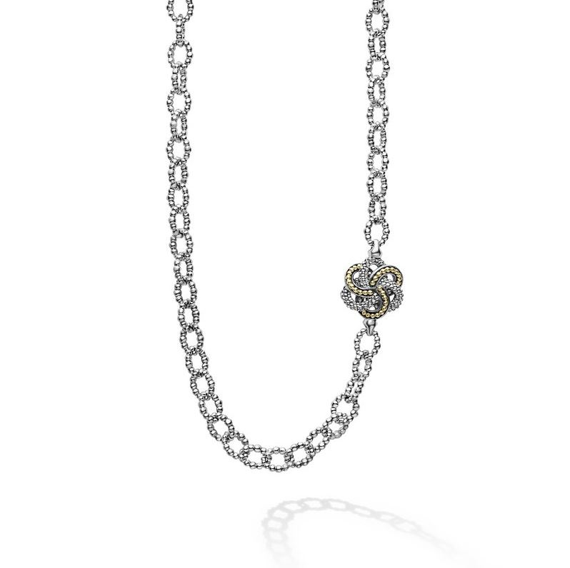 Lagos Two Toned Love Knot Station Necklace
