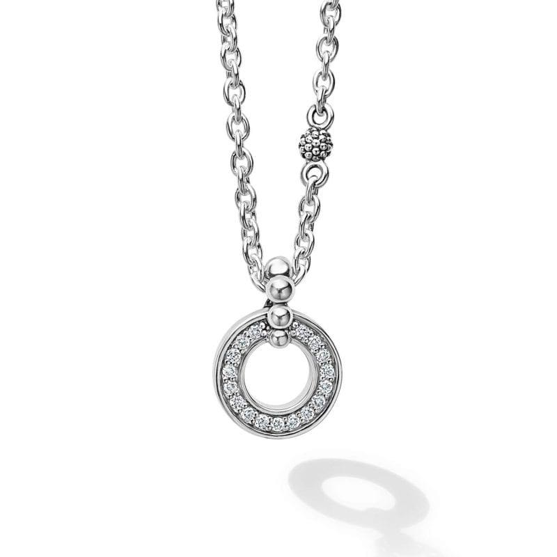 Lagos Diamond Circle Pendant Necklace