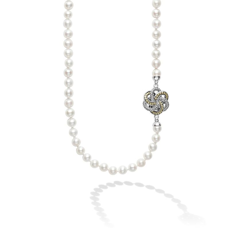 Lagos Love Knot Station Pearl Necklace