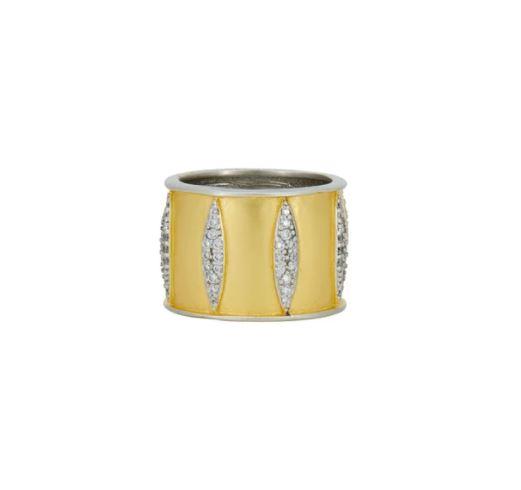 Freida Rothman Wrapped in Petals Cigar Band Ring