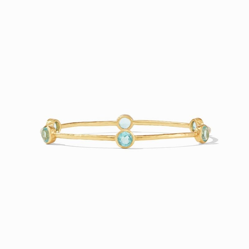 Julie Vos Milano Bangle in Bahamian Blue