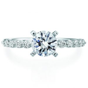 single prong engagement ring setting