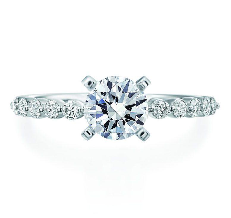 single prong engagement ring setting