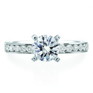 Channel Set engagement ring setting