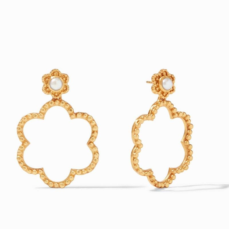 Julie Vos Colette Statement Earrings in Pearl