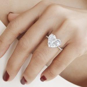 Heart Cut Diamond Ring