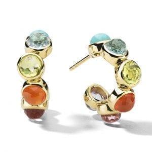 Ippolita lollipop rainbow hoop earrings front view