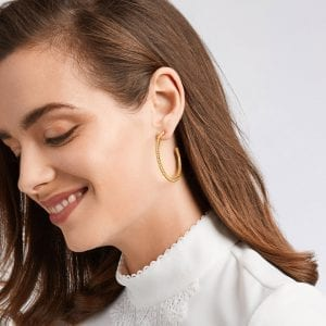 Julie Vos Colette Hoop Earrings