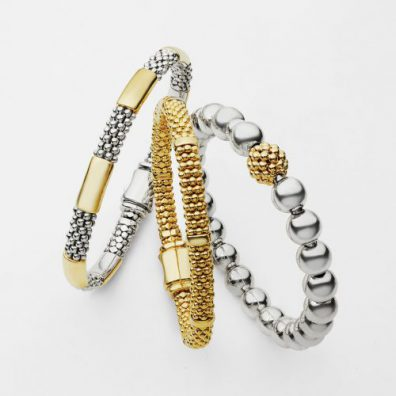 lagos caviar silver and gold bracelets