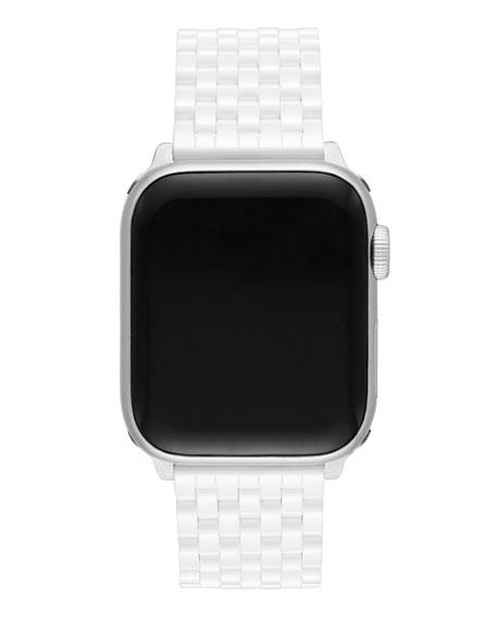 Michele 38/40mm White Ceramic Apple Watch Strap