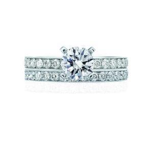 Milgrain Classic Engagement Ring Setting