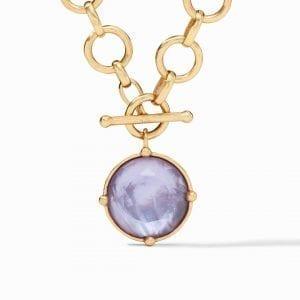 Julie Vos Honeybee Statement Necklace in Iridescent Lavender