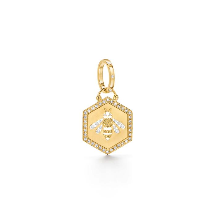 Temple St. Clair 18k Yellow Gold Bee Pendant