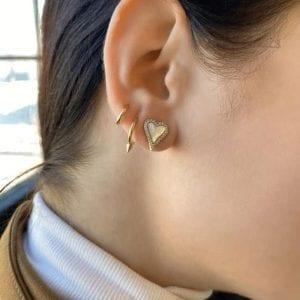Freida Rothman From The Heart Stud Earrings