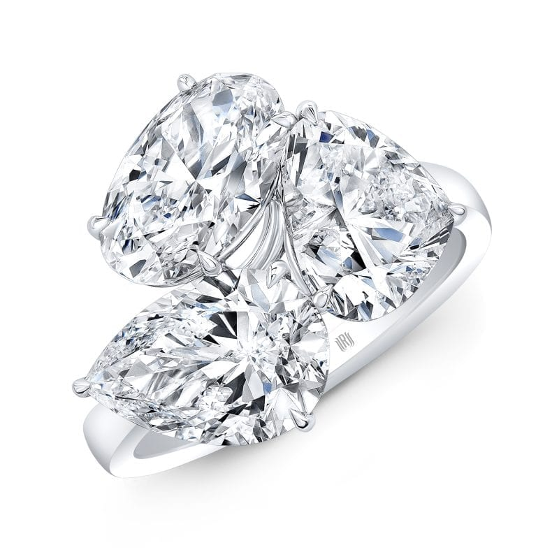 Mix Diamond Cluster Ring