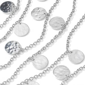Ippolita Crinkle Long Paillette Necklace in Sterling Silver