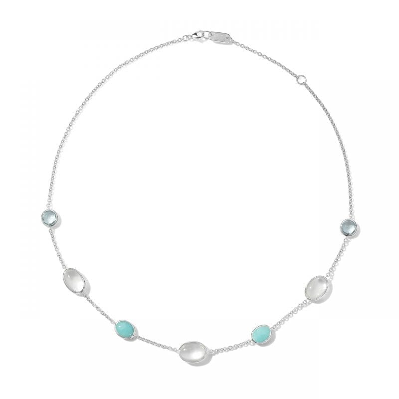 Ippolita Sterling Silver 7-Stone Chain Necklace in Cascata