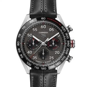 tag heuer porsche watch black leather strap