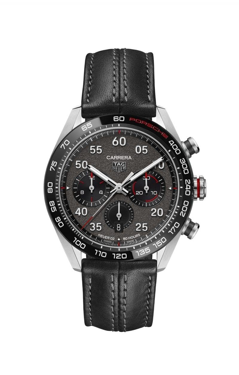 tag heuer porsche watch black leather strap