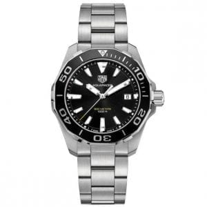 tag heuer aquaracer quartz black dial watch