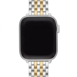 Michele Stainless Steel & 18k Yellow Gold Plate Apple Watch Strap