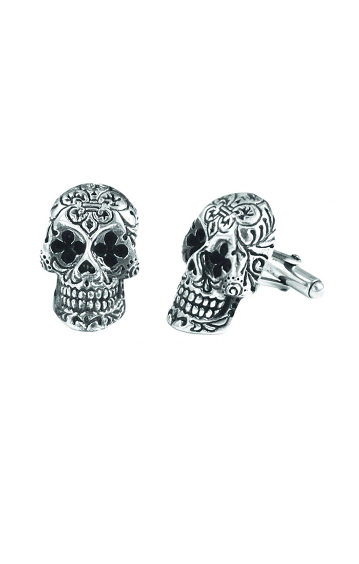 king_baby_cufflinks_sterling_silver_skulls_with_day_of_the_dead_design_work
