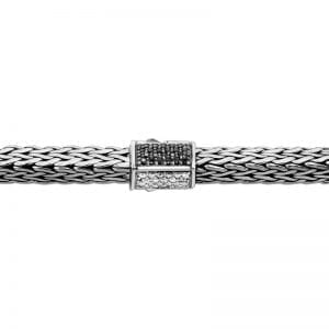 John Hardy Tiga Chain Bracelet with Diamonds and Black Sapphires