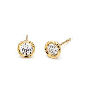 Bailey's Club Collection Best Bezel Diamond Stud Earrings