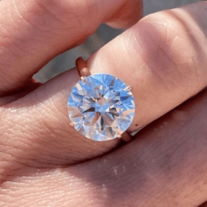 diamond ring on model