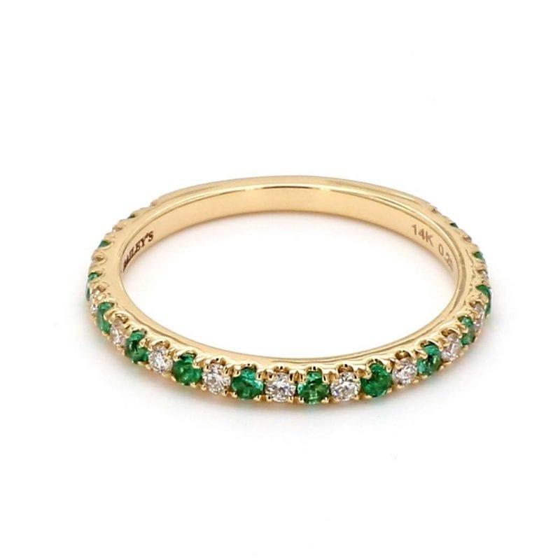 May Alternating Birthstone Ring