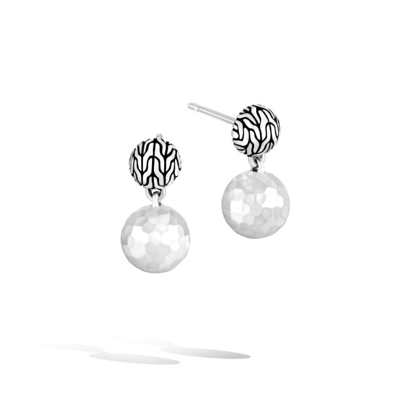 John Hardy Classic Chain Hammered Ball Drop Earrings