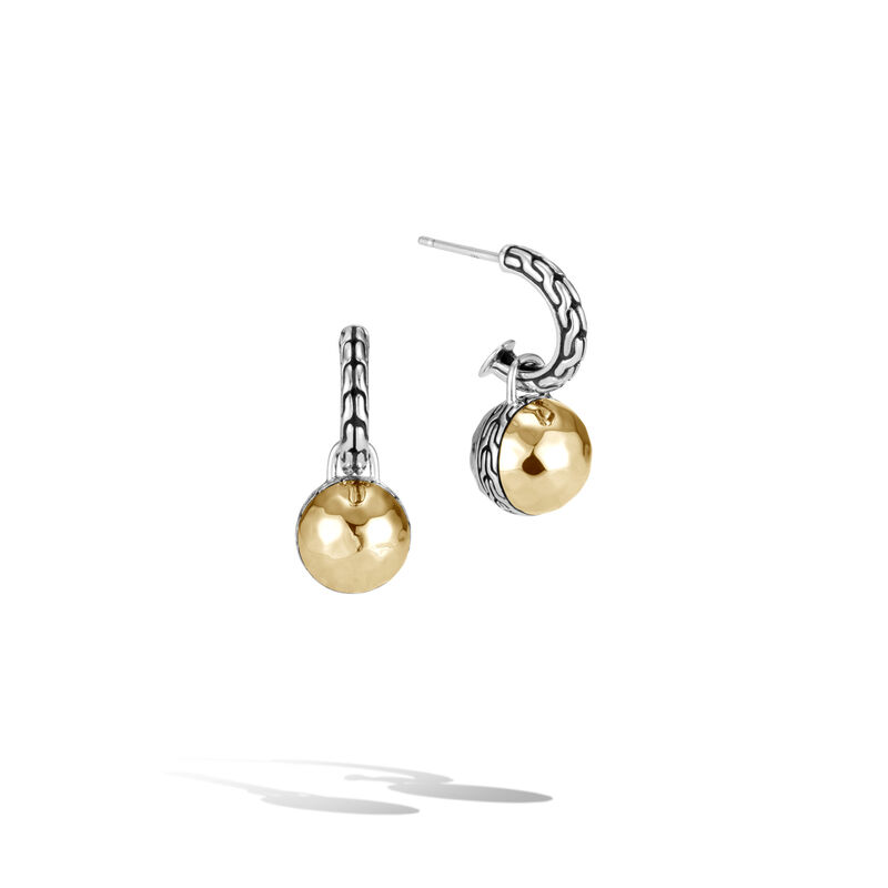John Hardy Transformable Hammered Drop Earrings