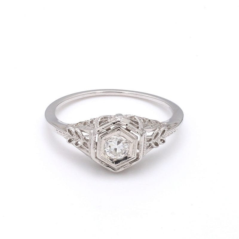 Bailey's Estate Floral Cut Out Diamond Ring