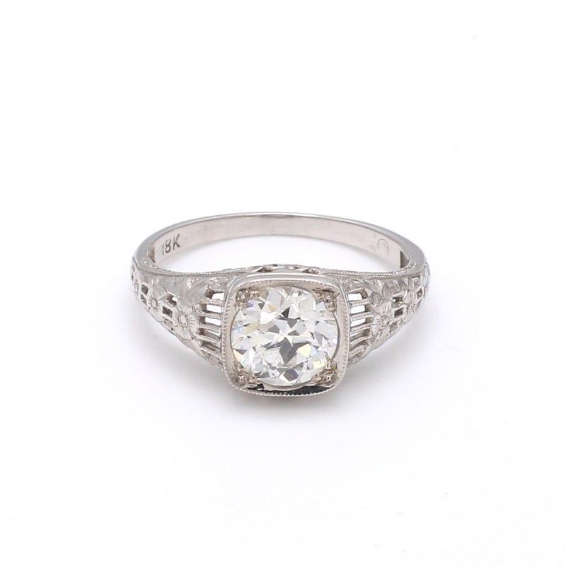 Bailey's Estate Art Deco Solitaire Diamond Ring