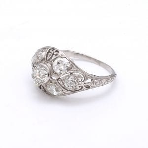 Bailey's Estate Platinum Edwardian Old Mine Diamond Ring