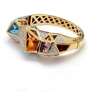 Bailey's Estate Geometric Bracelet in 18k Yellow Gold