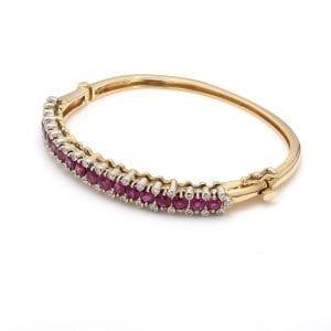 Bailey's Estate Ruby & Diamond Bracelet
