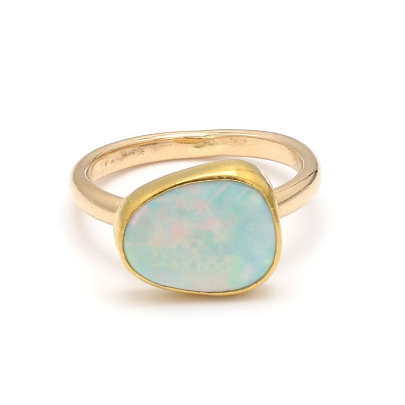 Bailey's Estate Opal Solitaire Ring