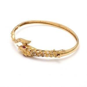 Bailey's Estate Ruby & Diamond Serpent Bracelet