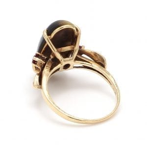 Bailey's Estate Tiger Eye Ring in 14k Yellow Gold
