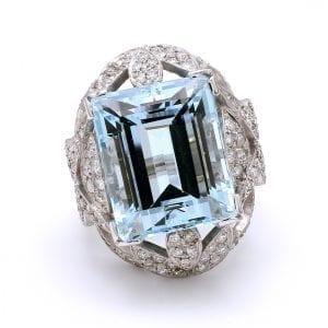 Bailey's Estate Platinum Aquamarine Ring