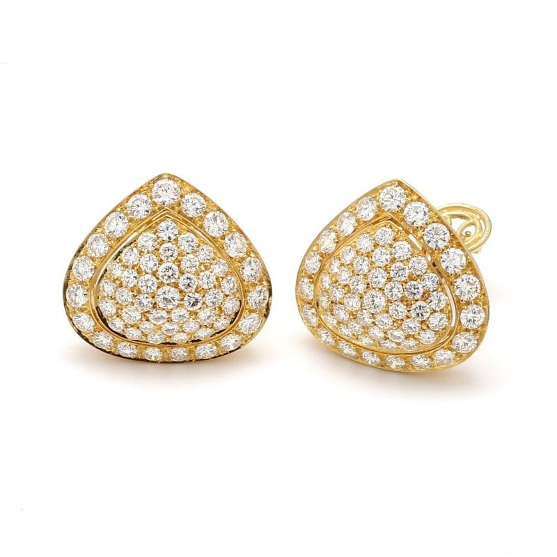 Bailey's Estate Pave Diamond Triangle Stud Earrings