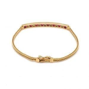 Bailey's Estate Tiffany & Co. Ruby and Diamond Bracelet